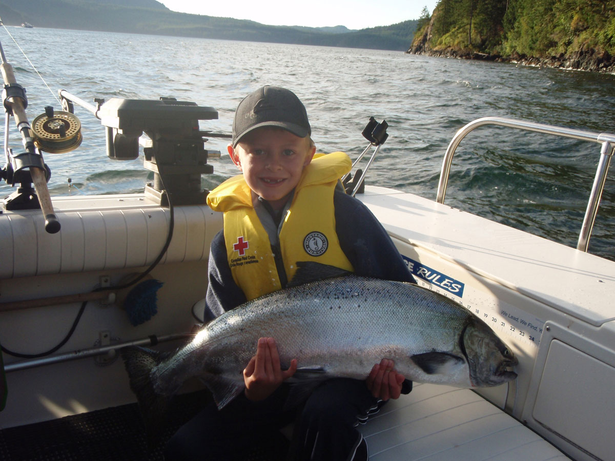 Salmon fishing in Campbell River, BC with Coastal Island Fishing